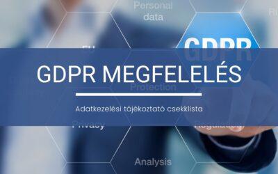 GDPR megfelelés